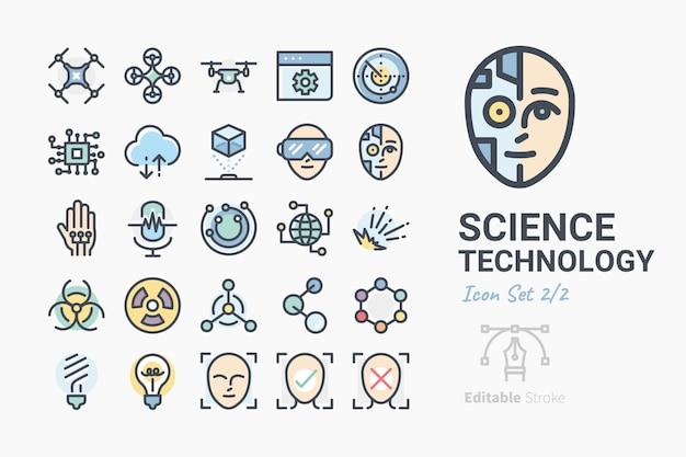 Science & technology icon set Vecteur Premium