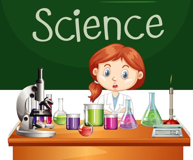 Scientifique Travaillant Dans Le Laboratoire Vecteur Premium