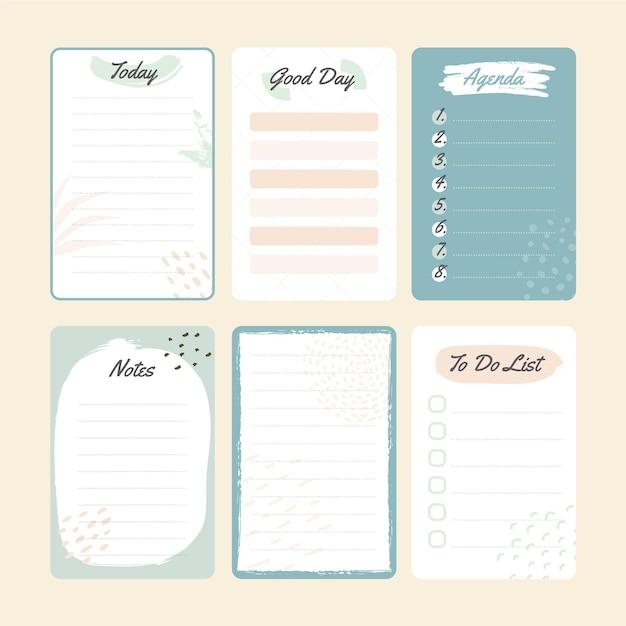Scrapbook Bleu Et Notes Vecteur gratuit