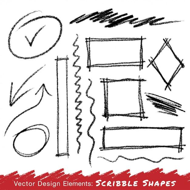 Scribble Taches Dessinés Au Crayon à La Main. Vecteur Vecteur Premium