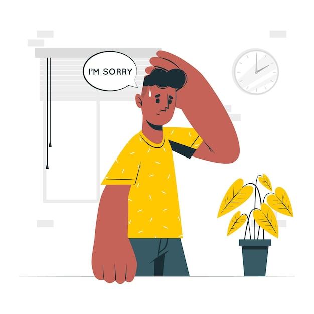 Se Sentir Désolé Illustration De Concept Vecteur gratuit