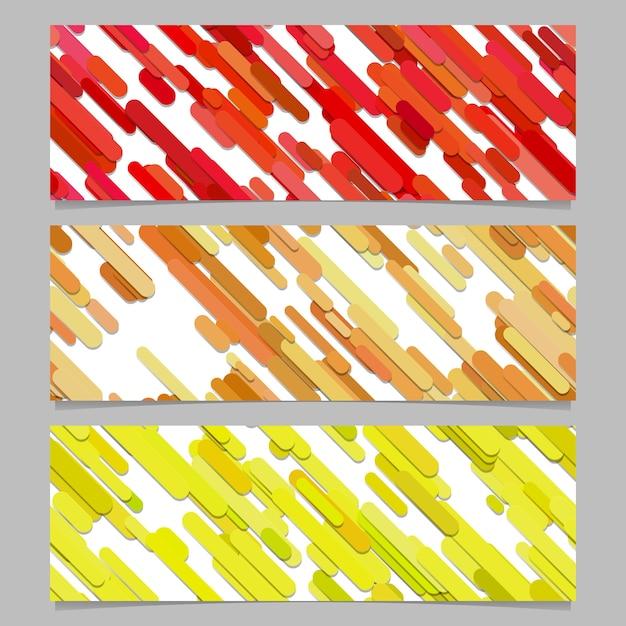 Seamless coloré aléatoire diagonal stripe pattern banner design de fond design Vecteur gratuit