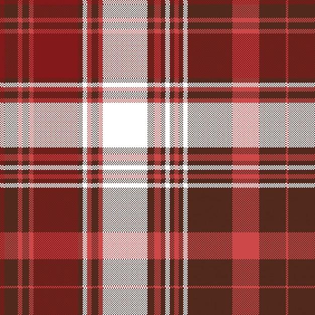 Seamless pattern de carreaux rouge textile Vecteur Premium