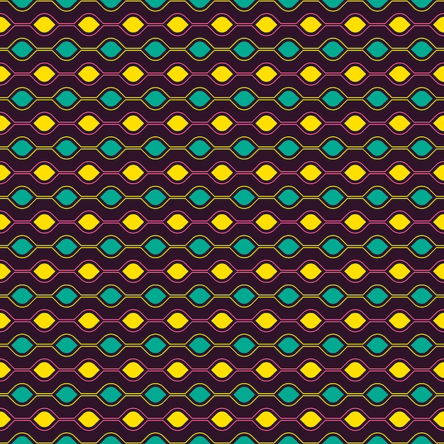 Seamless pattern de la forme des yeux Vecteur Premium