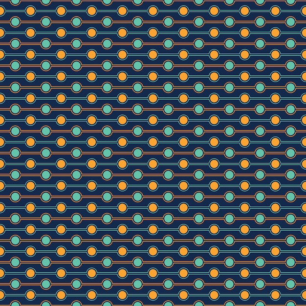Seamless pattern of circle Vecteur Premium