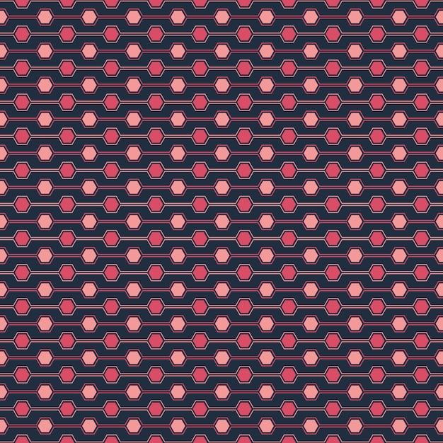 Seamless pattern of hexagone Vecteur Premium