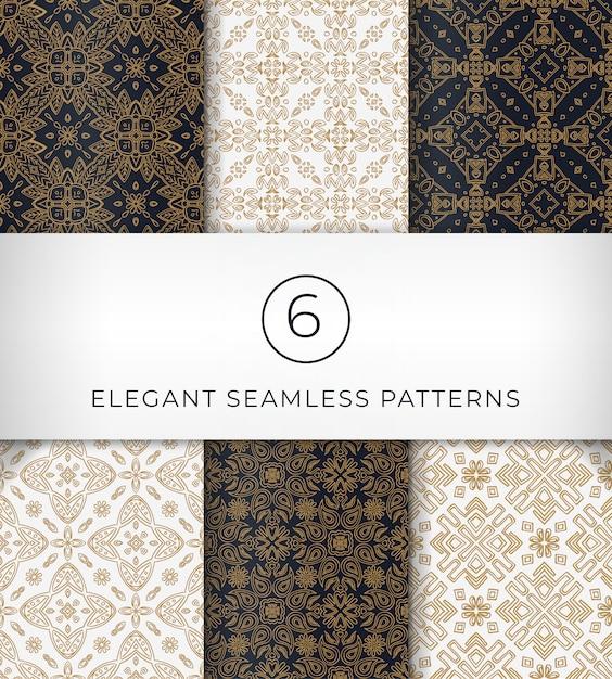 Seamless patterns élégants Vecteur Premium