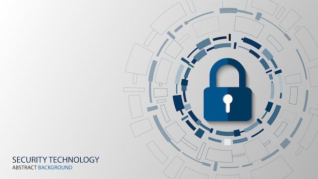 Sécurité De La Cybersécurité Vecteur Premium