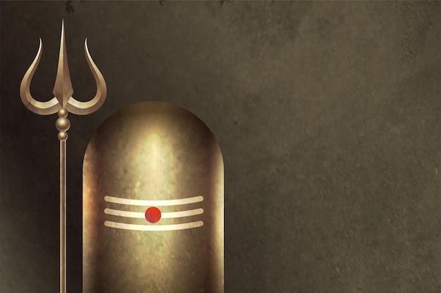 Seigneur Hindou Traditionnel Shiva Shivling Background Vecteur gratuit