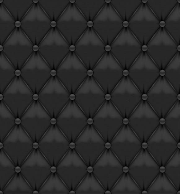 Sellerie cuir noir avec boutons Vecteur gratuit