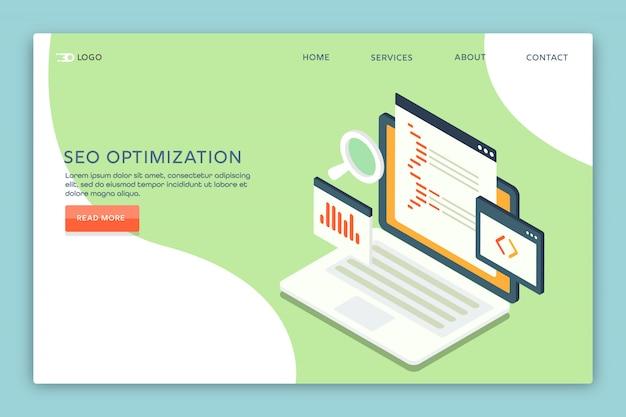 Seo otpimization Vecteur Premium