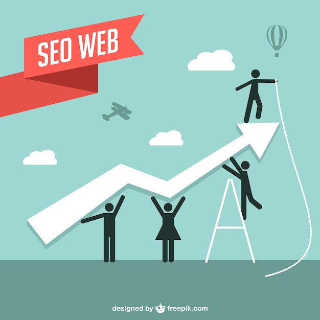 Seo vecteur web illustration Vecteur gratuit