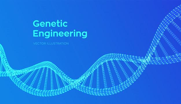 Séquence D'adn. Filtrage Des Molécules De Code D'adn De Structure Maillée. Vecteur Premium