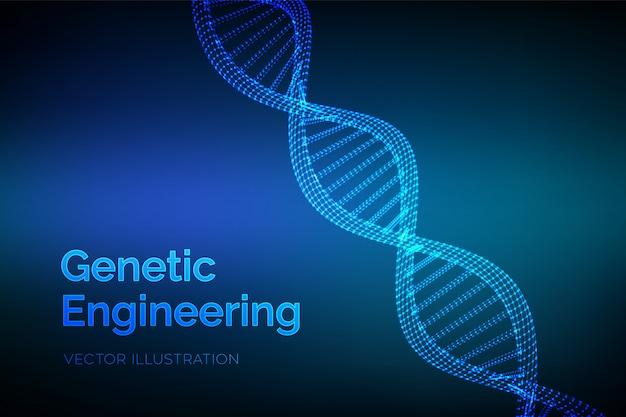 Séquence D'adn. Structure Des Molécules De Code Adn Filaire. Vecteur Premium