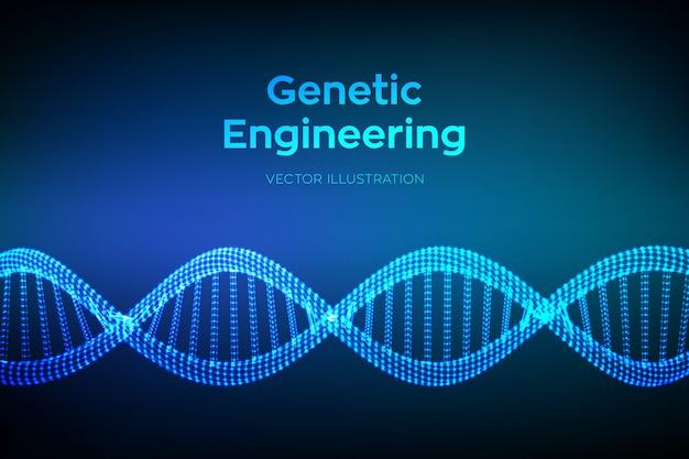 Séquence De Code Adn. Structure De Molécules D'adn Filaire. Vecteur Premium