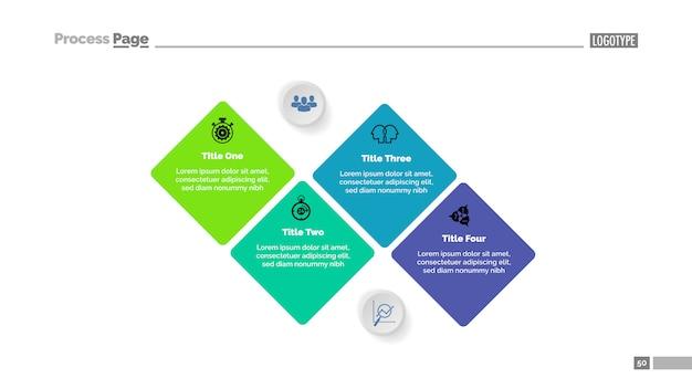 Séquence du modèle de diagramme à quatre étapes. données commerciales graphique, graphique Vecteur gratuit