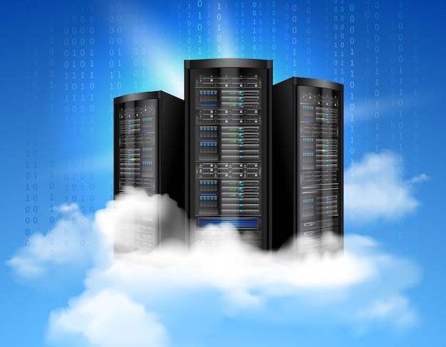 Serveur de données réseau Vecteur gratuit