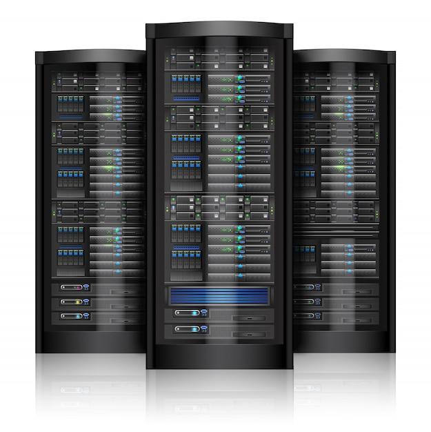 Serveurs de réseau isolés Vecteur gratuit