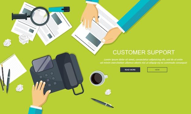 Service à la clientèle d'affaires Vecteur Premium