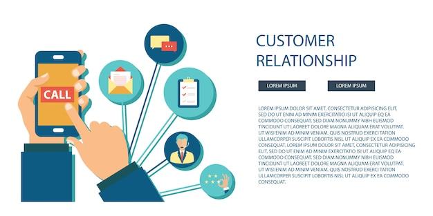 Service clientèle commerciale Vecteur Premium