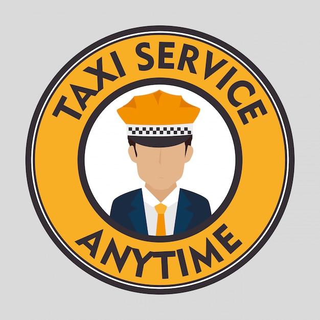 Service clientèle de taxi Vecteur gratuit