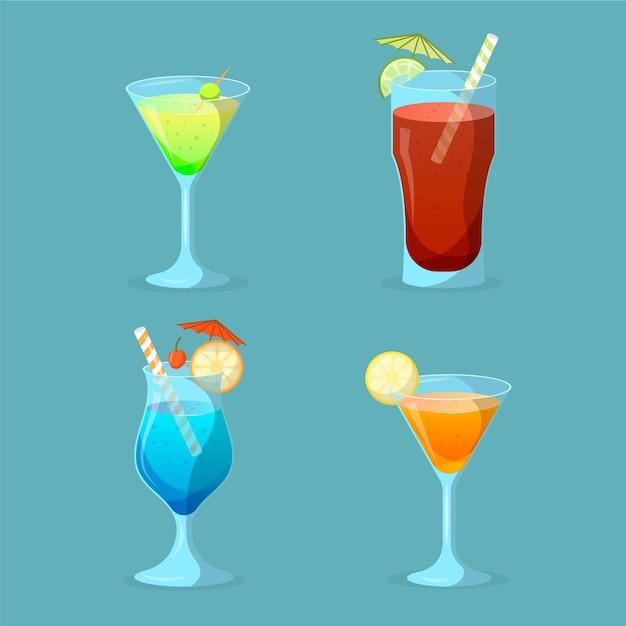 Service à Cocktail Design Plat Vecteur gratuit