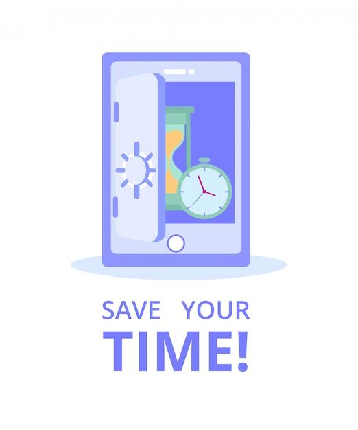 Service de commerce électronique de financement bancaire en ligne. économisez votre temps Vecteur Premium