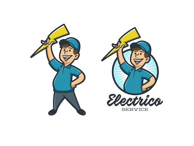 Service D'électricité Vecteur Premium