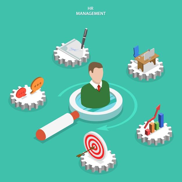Service de gestion des ressources humaines. Vecteur Premium