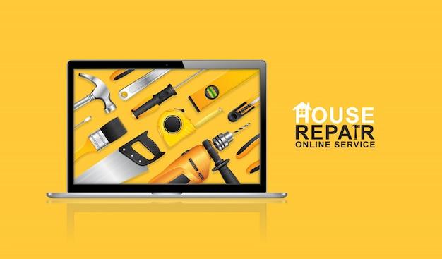 Service en ligne d'outils de construction Vecteur Premium