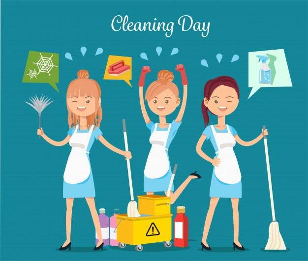 Service de ménage Vecteur Premium