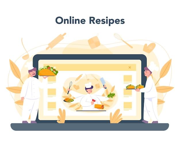 Service Ou Plateforme En Ligne De Nourriture De Rue Shawarma Vecteur Premium