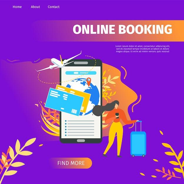 Service de réservation en ligne Vecteur Premium