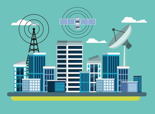 Service Satellite De Localisation Gps Vecteur gratuit