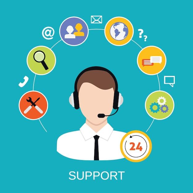 Service de support client Vecteur Premium