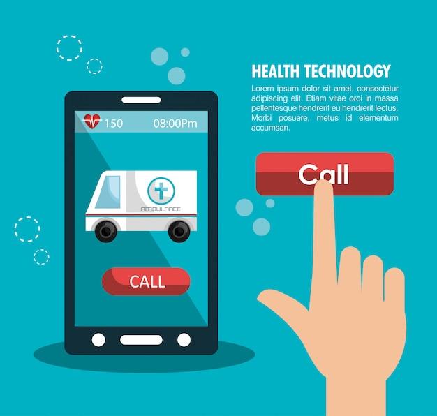 Service de technologie de la santé Vecteur gratuit