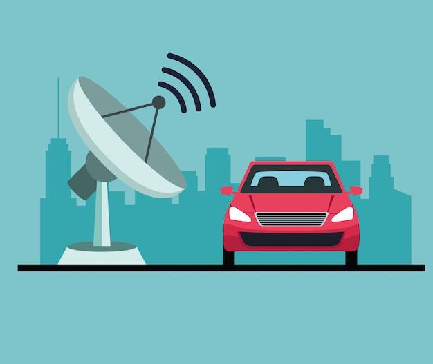 Service de voiture de localisation gps Vecteur gratuit