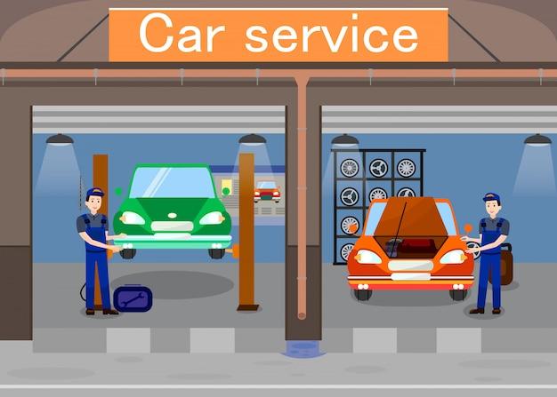 Service de voiture promotionnel Vecteur Premium