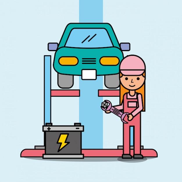 Service de voiture Vecteur Premium