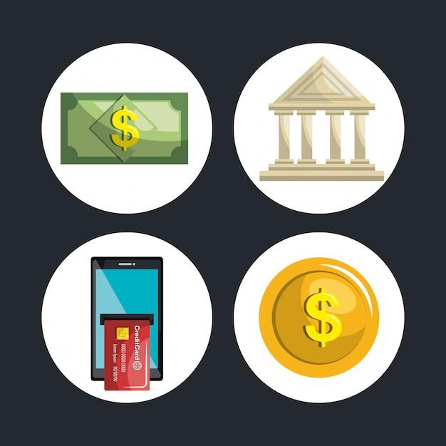 Les services bancaires mobiles Vecteur gratuit
