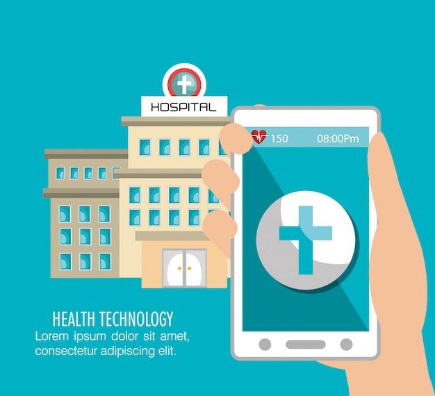 Services de construction d'hôpitaux médicaux isolés Vecteur Premium