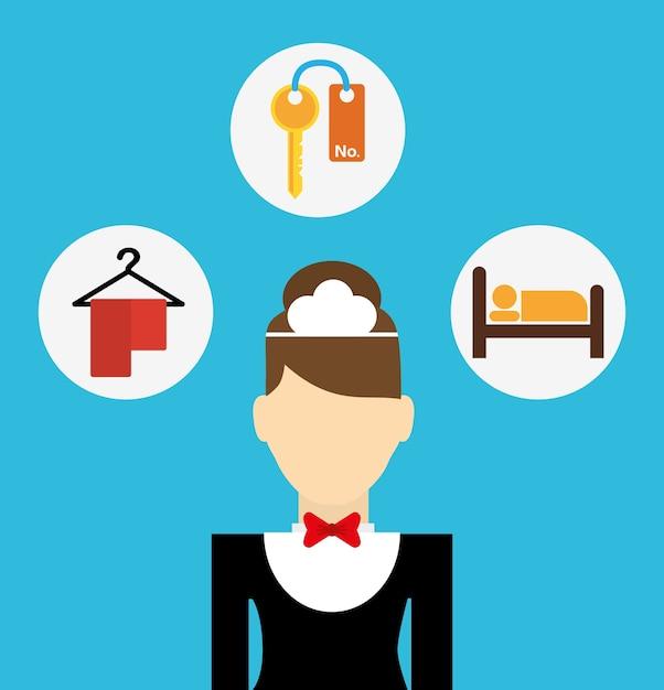 Services hôteliers et voyages Vecteur Premium