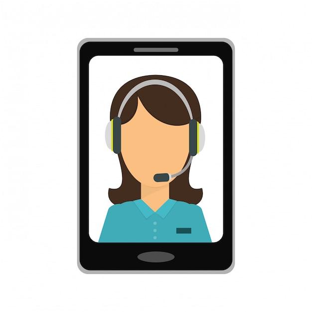 Services techniques smartphone icône image Vecteur Premium