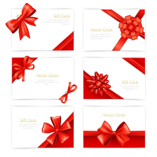 Set de cartes-cadeaux Vecteur gratuit