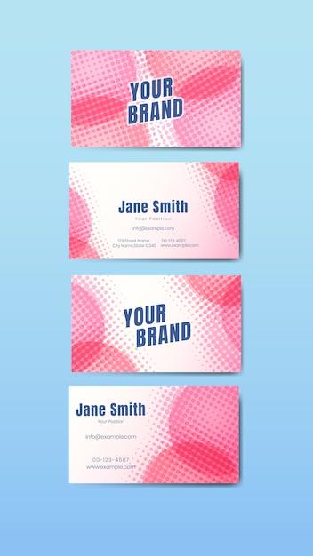 Set de cartes de noms colorés Vecteur gratuit