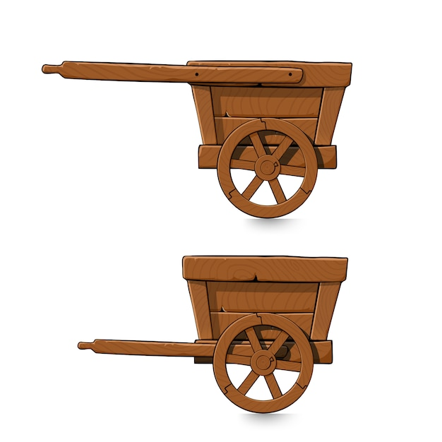 Set De Chariots Miniers Vecteur Premium