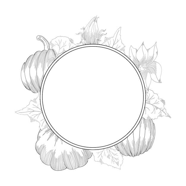 Set de dessin vectoriel citrouille Vecteur Premium