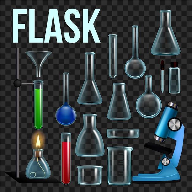 Set de flacon de laboratoire Vecteur Premium