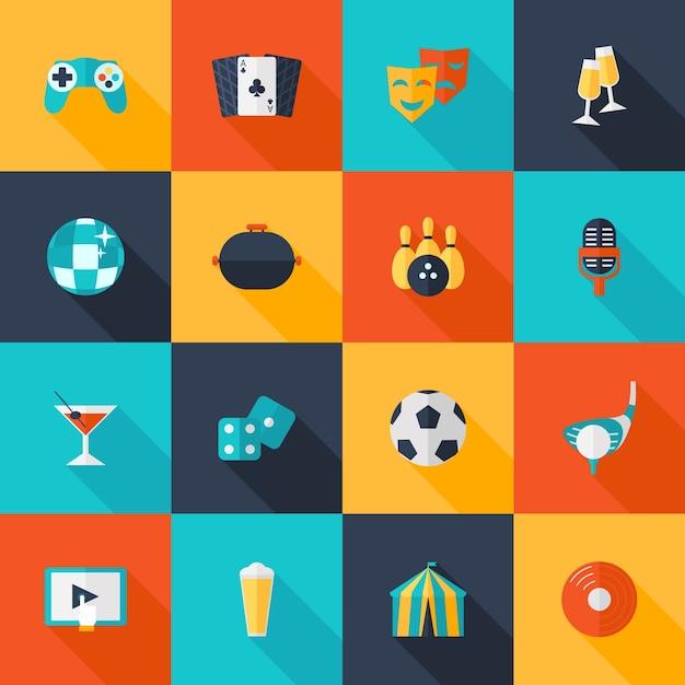 Set d'icônes divertissantes Vecteur gratuit
