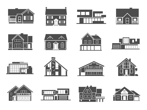 Set d'icônes de la maison Vecteur gratuit